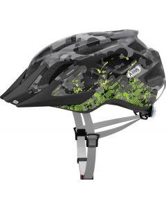 Abus Mountx cykelhjelm med lys - Grey camouflage