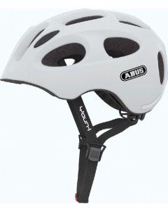 Abus Youn-I cykelhjelm til børn med lys - Polar matt