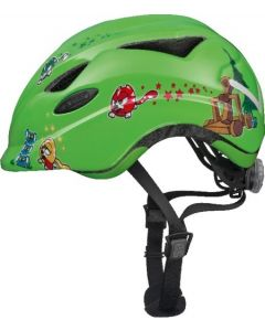 Abus Anuky cykelhjelm til børn med lys - Green catapult