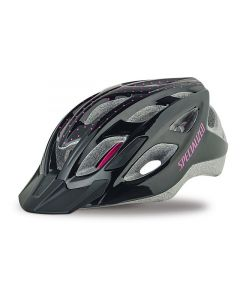 Specialized Duet cykelhjelm til damer - Gloss Black/Pink Dots