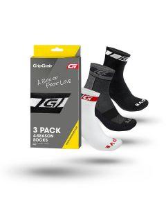 GripGrab All-season Socks 3-pak cykelstrømpe - Flere farver