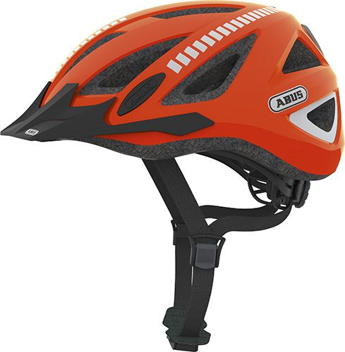 Nye Abus Urban-I v.2 cykelhjelm Signal - Neon orange med reflekser XU-43