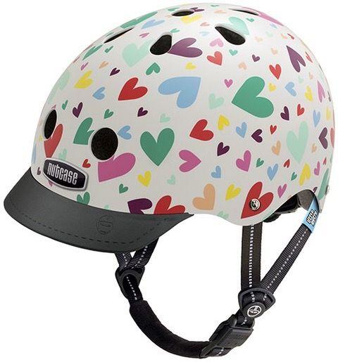 Nutcase Little Nutty GEN3 cykelhjelm til børn - Happy Hearts