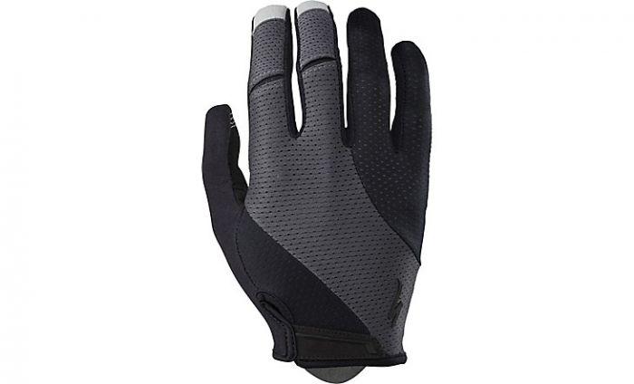 Specialized BG GEL Wiretap cykelhandske lange fingre - Black/Carbon Grey