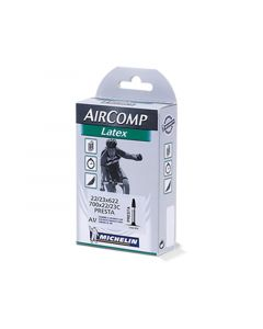 Michelin Aircomp Latex tube 700 x 22/23 C Presta 40 mm. cykelslange