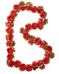 Basil Blomsterranke til cykelkurv - Rød