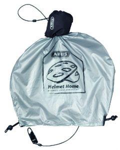 Abus Helmet home - Lås og regnovertræk til cykelhjelm - Sølv