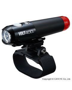 Cateye Volt400 DUPLEX  HL-EL462RC-H - 400/10 lumen hjelmmonteret forlygte/baglygte