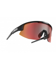 Bliz Matrix solbriller til sport - Black frame/Smoke Brown with red multi lens