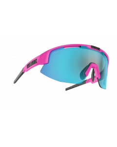 Bliz Matrix solbriller til sport - Pink frame/Brown with blue multi lens