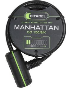 Citadel Manhattan by Abus Spirallås 12 mm - Sort
