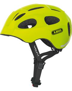 Abus Youn-I cykelhjelm til børn med lys - Neon yellow
