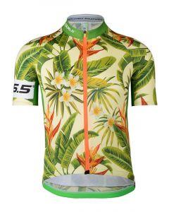 Q36.5 Jersey short sleeve R1 cykeltrøje - Flowerpower