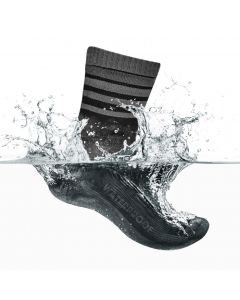 GripGrab Waterproof Merino Thermal Sock cykelstrømpe - Sort/grå