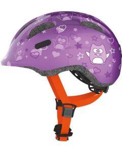 Abus Smiley 2.0 cykelhjelm til børn - Purple star