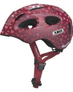 Abus Youn-I cykelhjelm til børn med lys - Cherry heart