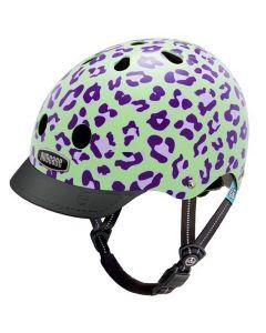 Nutcase Little Nutty GEN3 cykelhjelm til børn - Grape leopard