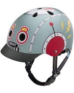 Nutcase Little Nutty GEN3 cykelhjelm til børn - Tin robot