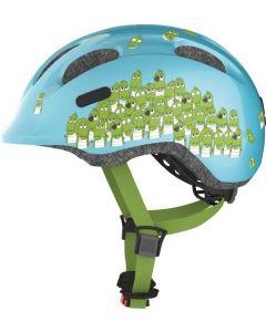 Abus Smiley 2.0 cykelhjelm til børn - Blå croco