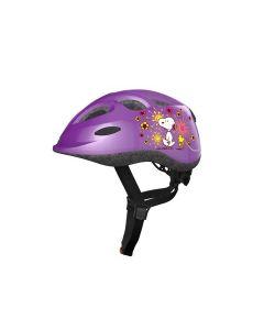 Abus smiley børnehjelm - Radiserne flower purple