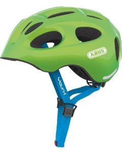 Abus Youn-I cykelhjelm til børn med lys - Sparkling green