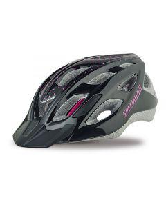 Specialized Duet cykelhjelm til damer - Gloss Black/Pink Dots