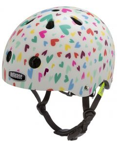 Nutcase Baby Nutty cykelhjelm til børn - Happy hearts