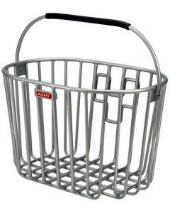 Klickfix Alumino front cykelkurv til styr - Sølv