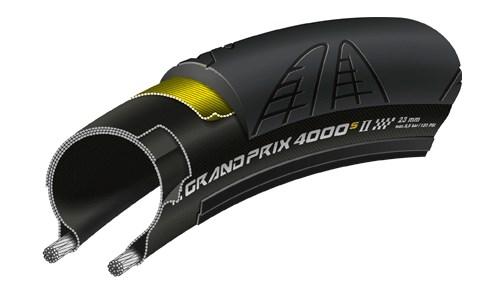 Continental Grand Prix 4000 S II cykeldæk - Sort   cykeldæk